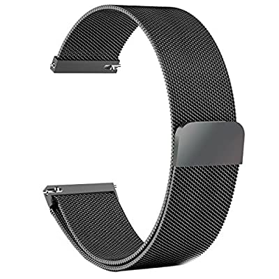 Gear S3 Frontier / Classic Watch Band, Fullmosa Milanese Loop 22mm Watch Strap with Quick Release Pins for Samsung Gear S3 Frontier / S3 Classic / Moto 360 2nd Gen 46mm Smart Watch