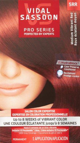 Vidal Sassoon Pro Series Hair Color, 5RR Medium Vibrant Red, 1 Kit (PACKAGING MAY VARY)
