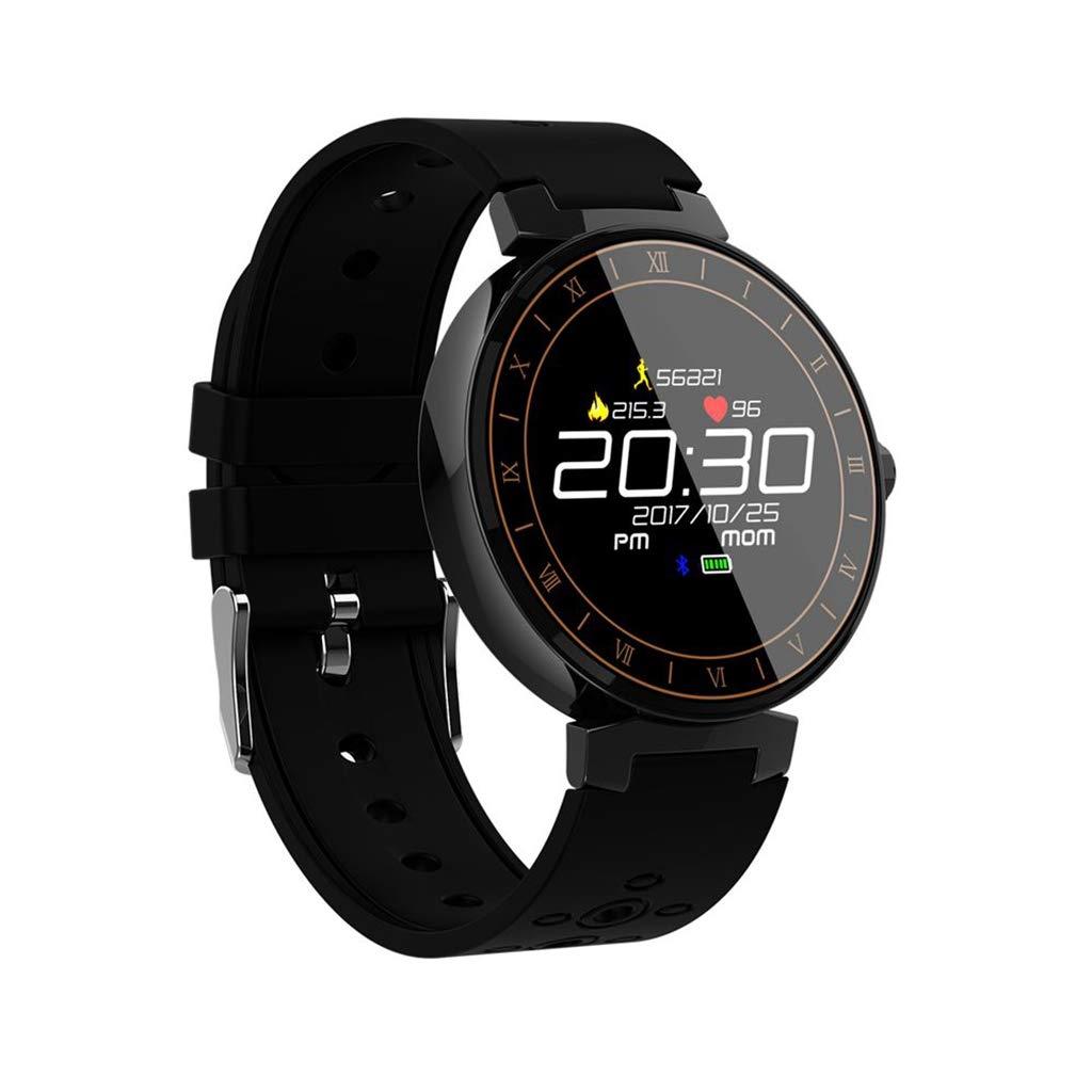 Noir WJSEIF Montre Sport Moniteur de fréquence Cardiaque Moniteur de fréquence Cardiaque Bracelet de Surveillance de la Forme Physique Montre Intelligente