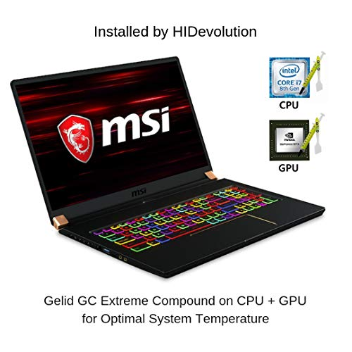 Compare HIDevolution MSI GS75 8SG Stealth (GS75-Stealth-202-HID12-US) vs other laptops
