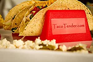 Taco Tender Holder - Plastic Red Stand - Holds 3 Tacos