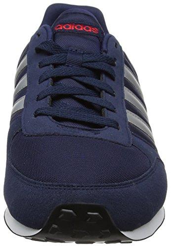 Plamat Hommes City Escarl Bleu Pour maruni Baskets Racer Adidas Neo q85UwZX