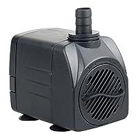 Bomba de agua sumergible UL400 de Uniclife, 400 GPH acuario /hidropónico /acuario /fuente /estanque /estatuario con cable eléctrico de 6 'con certificación UL
