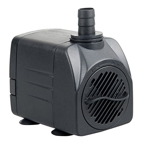 400 Pump - Uniclife UL400 Submersible Water Pump, 400 GPH Aquarium/Hydroponic/Fish Tank/Fountain/Pond/Statuary with 6' UL Listed Power Cord