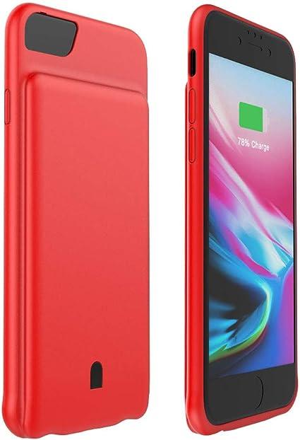 HiKiNS Cover Batteria per iPhone 7/8/6/6s, 5500 mAh Caricabatterie Ultra Sottile Power Case Ricaricabile Custodia Batteria Portatile Backup per iPhone ...