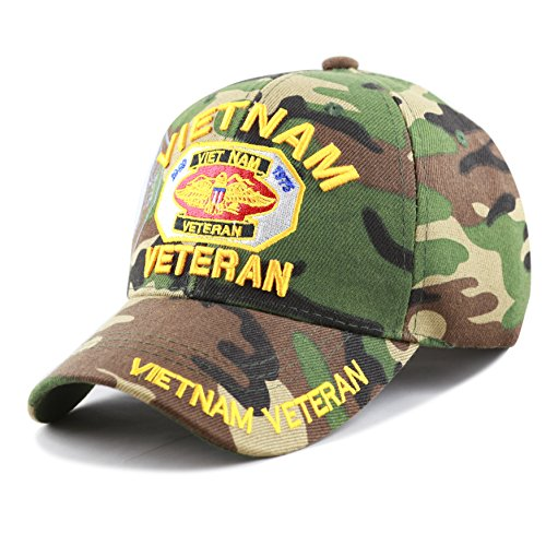 THE HAT DEPOT 1100 Official Licensed Vietnam Veteran(1959-1975) 3D Baseball Cap