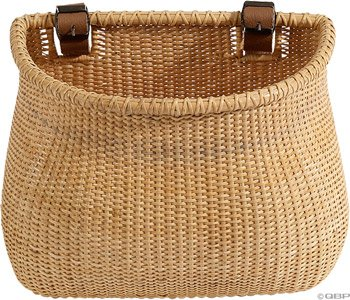 Nantucket Vine - Nantucket Bicycle Basket Co. Lightship Collection Adult Bicycle Basket, Classic/Tapered, Natural