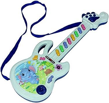 Juguetes niños juguete guitarra instrumentos musicales teclado piano niño mini piano guitarra electrica , blue: Amazon.es: Deportes y aire libre