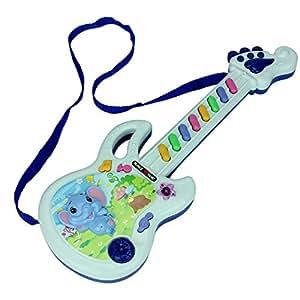 Juguetes niños juguete guitarra instrumentos musicales teclado piano niño mini piano guitarra electrica , blue