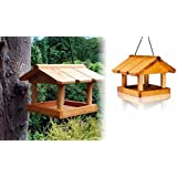 HANGING WOODEN BIRD TABLE NEW LOCATIONS SAFE WILD BIRD FEED WOODEN ROOF PANELS SIMPLY ASSEMBLY