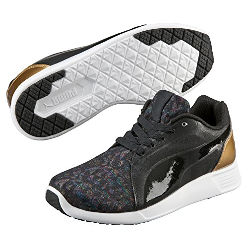Puma Jr St Trainer Evo Gleam Baskets Mode-Noir/Noir 4,5
