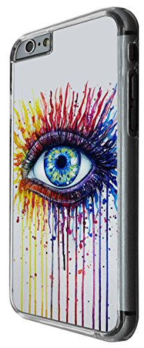 1223 - Watecolor Sexy Eye Trendy Design For iphone 6 Plus / iphone 6 Plus S 5.5'' Fashion Trend CASE Back COVER Plastic&Thin Metal -Clear