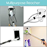 "Reacher Grabber by VIVE - Suction Cup Grip - 32"" Heavy Duty Mobility Aid - Tool for Light Bulb Remover, iPad Pick Up, Litter Picker, Trash / Garbage, Garden Nabber, Long Extender"