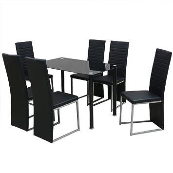 Vidaxl Essgruppe Sitzgruppe Esstisch 6 Stuhlen Sitzgarnitur