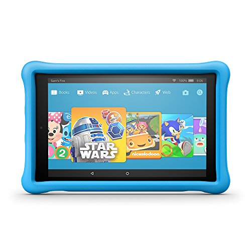 All-New Fire HD 10 Kids Edition Tablet, 10.1″ 1080p Full HD Display, 32 GB, Blue Kid-Proof Case