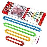 LAYOER Long Knitting Loom Set with Hook 2 Needles