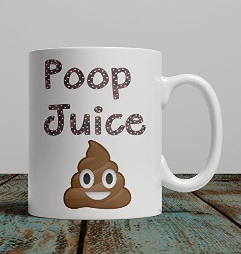 Coffee Mug Cup Poop Juice with Emoji (Style 2) (Juice Mug compare prices)