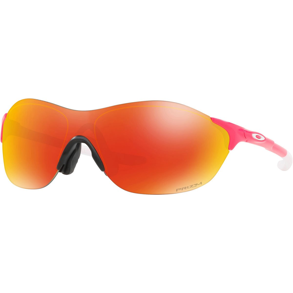 Oakley Men's OO9410 EVZero Swift Asian Fit Rectangular Sunglasses, Neon Pink/Prizm Ruby, 38 mm by Oakley