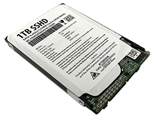 WL 1TB 64MB Cache + 8GB NAND SATA III 6.0Gb/s 2.5' 7mm Slim SSHD (Solid State Hybrid Drive) - For Laptop, MacBook, PS4/PS3
