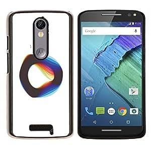 LECELL--Funda protectora / Cubierta / Piel For Motorola MOTO X3 3rd -- Cuerda Vibrante Teoría Física Blanca --