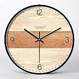 JYY Elegante Reloj de Pared,Reloj Redondo Silencioso para Sala de Estar Dormitorio Cocina Pasillo Decoración for El Hogar Regalo,3 Tamaños,5 Estilos (Color : Style03, Size : 14 Inch)