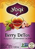 Yogi Herbal Tea Berry DeTox, Caffeine Free,16 Tea Bags, 1.12 Oz
