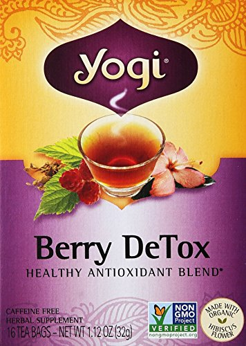Yogi Herbal Tea Berry DeTox, Caffeine Free,16 Tea Bags, 1.12 Oz - Yogi Caffeine Free Tea