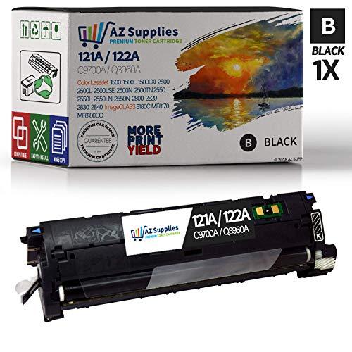 AZ Supplies Compatible Toner Cartridge Replacement for HP 122A / 121A (Q3960A / C9700A) - 1 Black