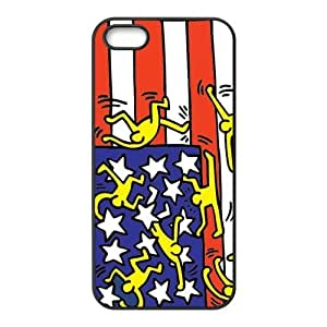 Painted ZQ Keith Haring PC Hard back phone Case cover iPhone 5s 5