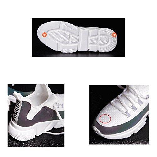 d'exécution et LIUFS 5UK Couleur Blanc réseau Harajuku coréen sauvage été sport blanc ulzzang cours Printemps respirant 38EU chaussures en taille femme ins Noir de rouge UUfrw5q