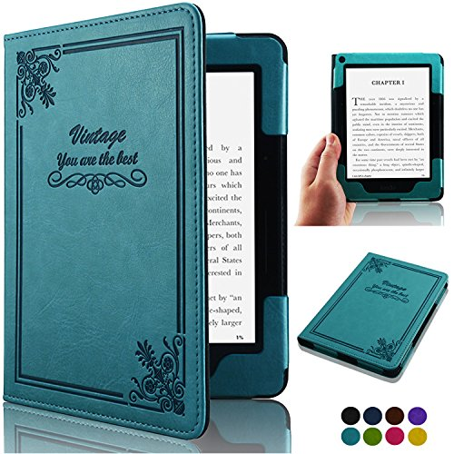 ACdream Kindle Voyage [Vintage] Case, Folio Premium PU Leather Book Style Case Cover for Kindle Voyage (2014 Version) with Auto Wake Sleep feature, Vintage Sky Blue