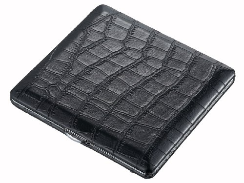 Visol Products Zaire Crocodile Pattern Cigarette Case, Black ()