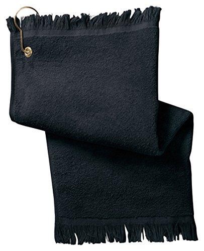 Anvil Fingertip Towel With Grommet T60G (O/S-One Size / Black)