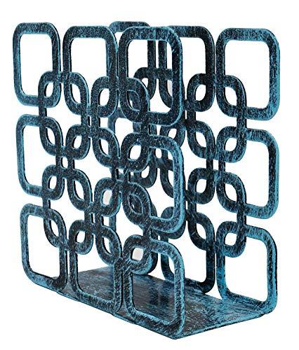 Turquoise Metal Square Shape Tabletop Napkin Holder, Freestanding Tissue Dispenser