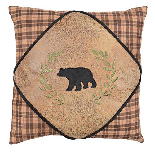 Alpine Bear Diamond Bear Pillow - Lodge Bedding Decor for $<!--$39.95-->