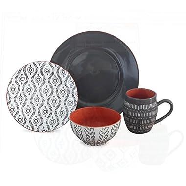 Baum Tangiers 16-Piece Dinnerware Set (Grey)