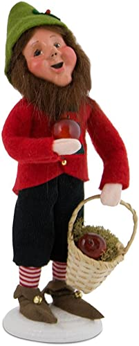 Byers Choice Gene – Christmas Elf with Apples 3826