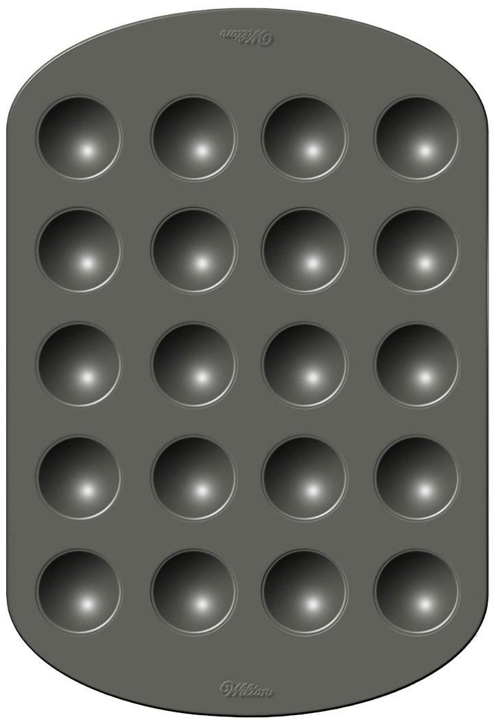 Wilton 2105 – 0868 Nonstick 20-cavityドーナツ穴パン B00AA5AAW8