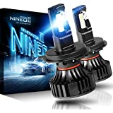 NINEO H4 9003 LED Headlight Bulbs | CREE Chips 12000Lm 6500K Extremely Bright All-in-One Conversion Kit | 360 Degree Adjustable Beam Angle