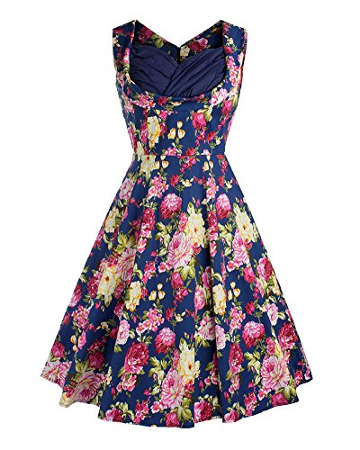 Vintage Festliche Kleider 50er Kleid Partykleid Knielang Damen ...