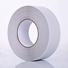 TopSoon Anti Slip Tape Clear 2-Inch by 60-Foot 80 Grit Non Skid Safety Traction Tape Indoor or Outdoor Applicable