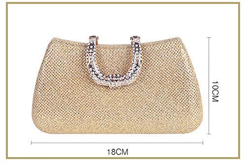 à fait bandoulière vintage Soirée sac dragonne en gris la d'embrayage Mode Femme main sacs Perles bandoulière LLXY Petit ptHqf4wx