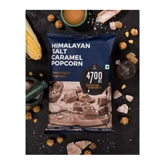 4700BC Himalayan Salt Caramel Popcorn, Pouch, 60g  (Pack of 4)