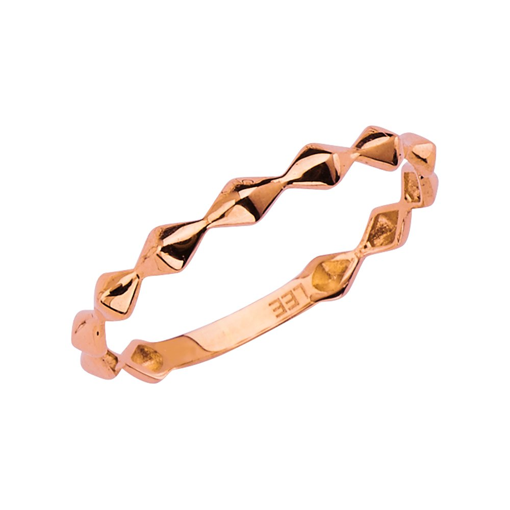 Wellingsale® SFP-J-LGDI-RG-02792.2793.2794 OR White Rose//Pink Gold Faceted Diamond Design Wedding Ring Band OR Mutiple Sizes Available Wellingsale Ladies 14K Yellow