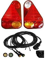 FKAnhängerteile Aspöck Earpoint 3-13 pol. - Set lampen en kabels 5 meter 2X 3,0 DC met afvoer