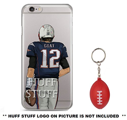 Tom Brady Goat Plus Mini Football Keychain Iphone Case Ultra Slim Transparent Tpu Soft Silicone Plastic  7 7S Plus