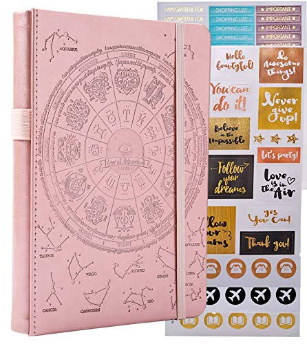 Law of Attraction Life & Goal Planner - A 12 Month Journey Creating Your Dream Life - Personal Gratitude Journal, Week Success Planner, Vision Board & Organizer + Planner Stickers
