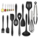 Silicone Kitchen Utensil Set 16 Piece Kitchen Tool Set Cooking Utensils Set Non-Stick Heat-Resistant with Spoons set