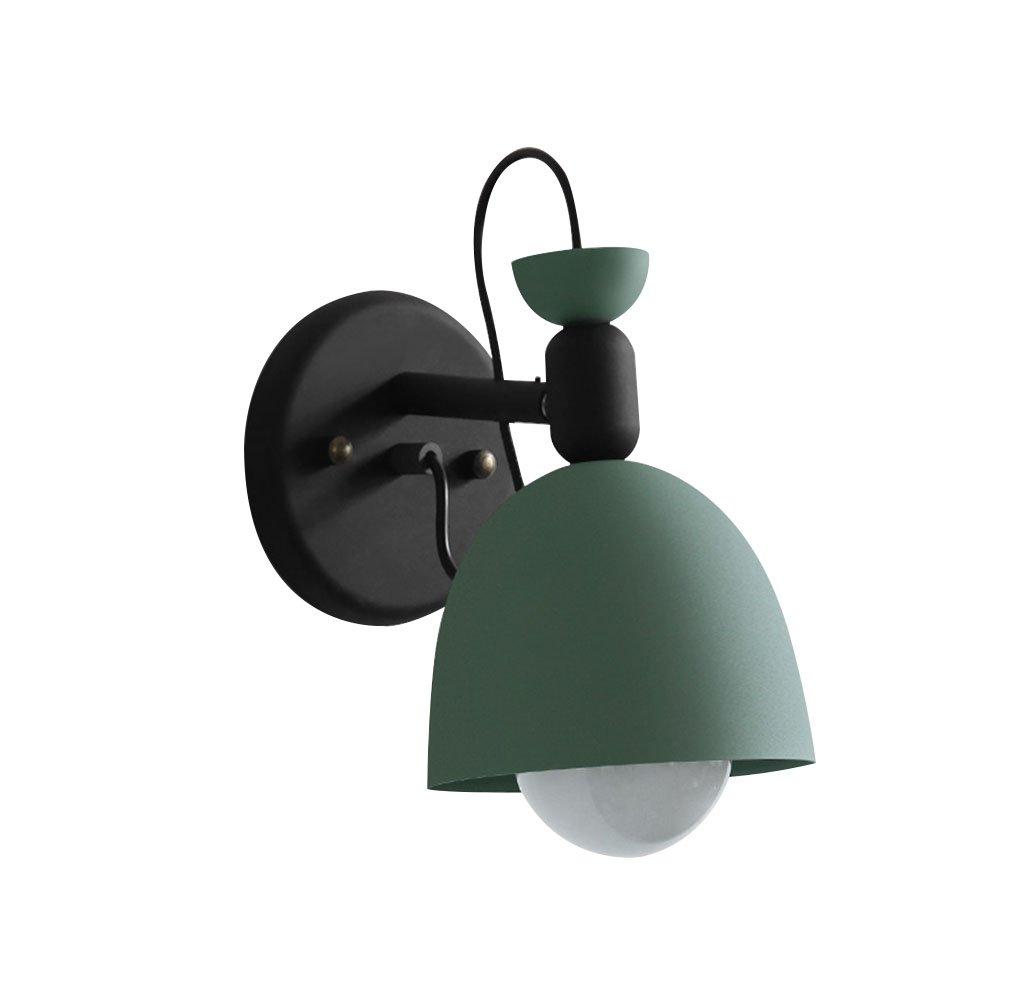 Home mall- Eisen Spiegelleuchten   Wandlampen   Europäische Retro für Nachttischlampe Vanity Mirror Badezimmer E27 (Farbe   Grün)