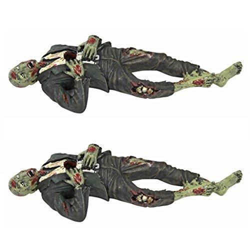 Death Desk Accessories - Impaled Zombie Figure Set of Two - Pencil Holder - Zombie Decorations]()
